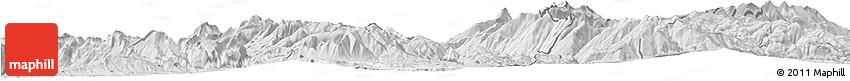 Silver Style Horizon Map of Dibër