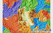 Physical Map of Dibër, political outside