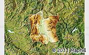 Physical Map of Dibër, satellite outside