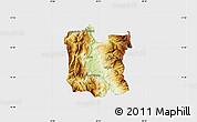Physical Map of Dibër, single color outside