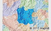 Political Map of Dibër, lighten