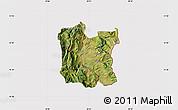 Satellite Map of Dibër, cropped outside