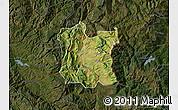 Satellite Map of Dibër, darken