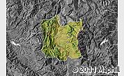 Satellite Map of Dibër, desaturated