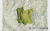 Satellite Map of Dibër, lighten