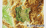 Satellite Map of Dibër, physical outside