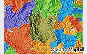 Satellite Map of Dibër, political outside