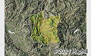 Satellite Map of Dibër, semi-desaturated