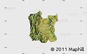 Satellite Map of Dibër, single color outside