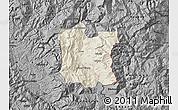 Shaded Relief Map of Dibër, darken, desaturated