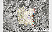 Shaded Relief Map of Dibër, darken, semi-desaturated