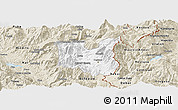 Classic Style Panoramic Map of Dibër