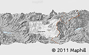 Gray Panoramic Map of Dibër