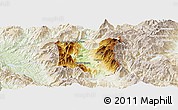 Physical Panoramic Map of Dibër, lighten