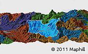 Political Panoramic Map of Dibër, darken