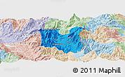 Political Panoramic Map of Dibër, lighten