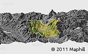 Satellite Panoramic Map of Dibër, desaturated