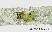Satellite Panoramic Map of Dibër, lighten