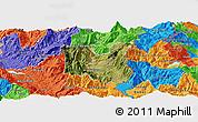 Satellite Panoramic Map of Dibër, political outside