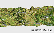 Satellite Panoramic Map of Dibër