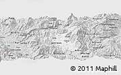 Silver Style Panoramic Map of Dibër