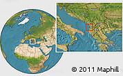Satellite Location Map of Durrës