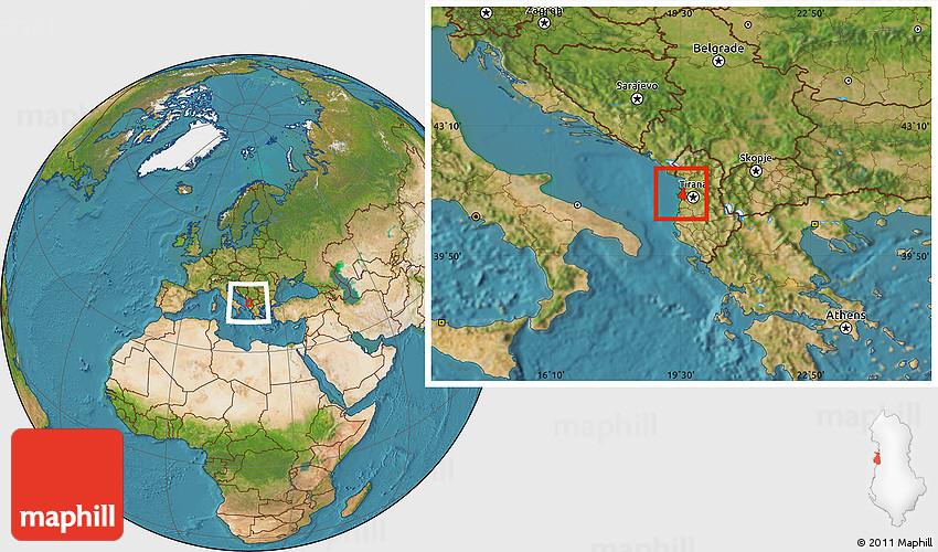 Satellite Location Map of Durrs