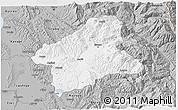 Gray 3D Map of Elbasan