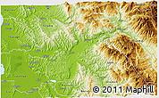 Physical 3D Map of Elbasan