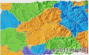 Political 3D Map of Elbasan