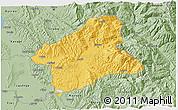 Savanna Style 3D Map of Elbasan