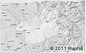 Silver Style 3D Map of Elbasan