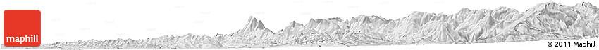 Silver Style Horizon Map of Elbasan