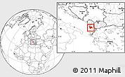 Blank Location Map of Elbasan
