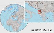 Gray Location Map of Elbasan