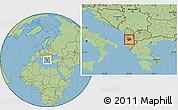 Savanna Style Location Map of Elbasan