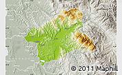 Physical Map of Elbasan, lighten, semi-desaturated