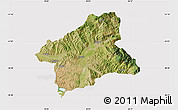 Satellite Map of Elbasan, cropped outside