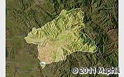 Satellite Map of Elbasan, darken