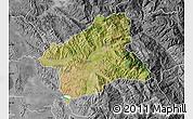 Satellite Map of Elbasan, desaturated