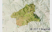 Satellite Map of Elbasan, lighten