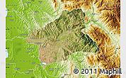 Satellite Map of Elbasan, physical outside