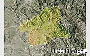 Satellite Map of Elbasan, semi-desaturated