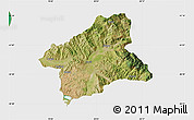 Satellite Map of Elbasan, single color outside