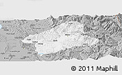 Gray Panoramic Map of Elbasan