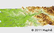 Physical Panoramic Map of Elbasan