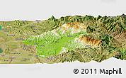 Physical Panoramic Map of Elbasan, satellite outside
