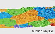 Political Panoramic Map of Elbasan
