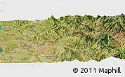 Satellite Panoramic Map of Elbasan