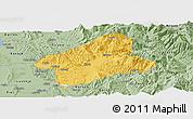Savanna Style Panoramic Map of Elbasan